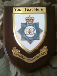 Cumbria Constabulary Police Force Personalised Wall Plaque